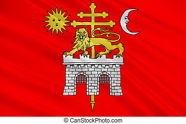 Flag of Albi, France - Flag of Albi is a commune in southern...