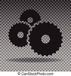 Three gear wheels