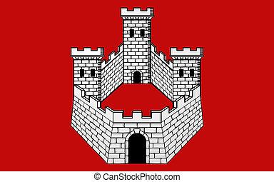 Flag of Bagneres-de-Bigorre, France - Flag of...
