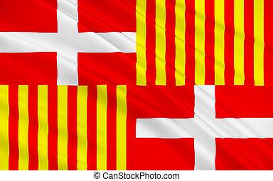 Flag of Bonneville, France - Flag of Bonneville is a commune...