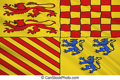 Flag of Correze is a department in south-western France,...