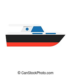 Yacht boat sign icon, vector illustration Flat design style