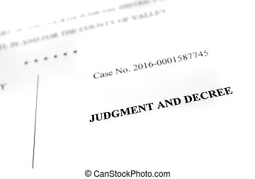 Legal Papers Complaint Judgment and Decree - Detail of legal...