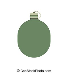 Military flask drink bottle container Army water canteen...