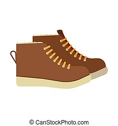 winter boots flat icon. vector illustration. Flat icon...