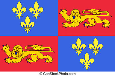 Flag of Landes, France - Flag of Landes - department in...