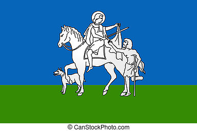 Flag of Limoux, France - Flag of Limoux is a commune and...