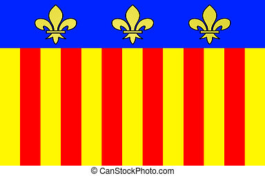 Flag of Millau, France - Flag of Millau is a commune in the...