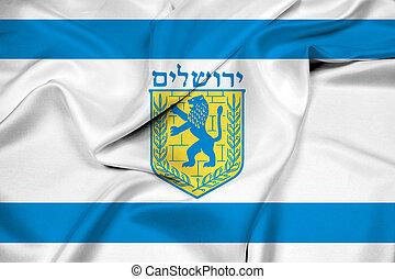 Waving Flag of Jerusalem