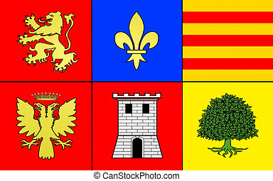 Flag of Pamiers, France - Flag of Pamiers is a commune in...