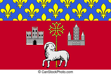 Flag of Toulouse, France - Flag of Toulouse is the capital...