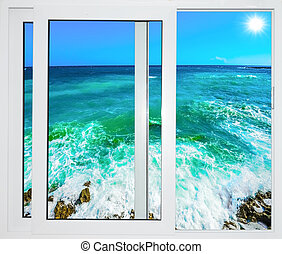 Ocean view window - Ocean view from the window on the island...
