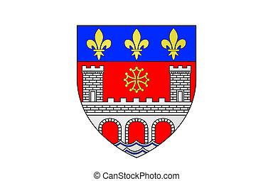 Flag of Villefranche-de-Rouergue, France - Flag of...