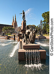 Archibald Fountain, Sydney - Wide Shot of Archibald Fountain...