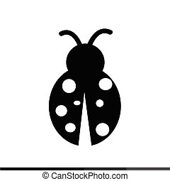Ladybug Icon Illustration design