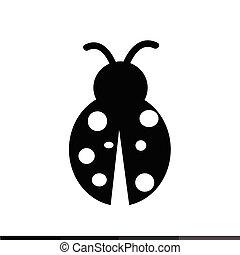 Ladybug Icon Illustration design