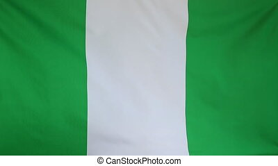 National flag of Nigeria - Textile national flag of Nigeria...