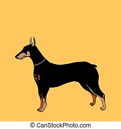 Vector Doberman Pinscher