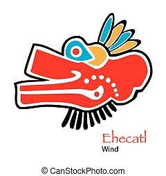 Aztec Ehecatl-Wind Icon - Vector Aztec Ehecatl-Wind Icon
