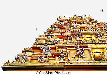 Towering vimana of the Hindu Gods