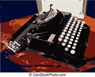 Vintage Antique Portable Typewriter