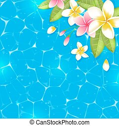 Blue tropical summer background
