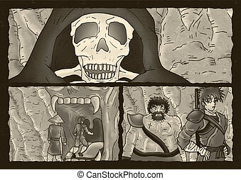 fear skeleton comic page - Creative design of fear skeleton...