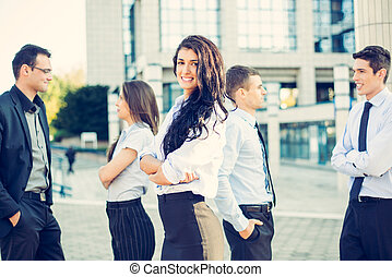 Young Businesswoman - Portrait of a beautiful young...