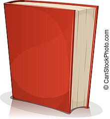Red Book Cover Isolated On White - Illustration of a cartoon...