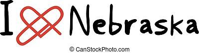 Nebraska love icon - Creative design of Nebraska love icon