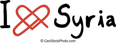 Syria love icon - Creative design of Syria love icon
