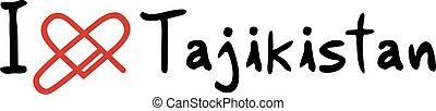 Tajikistan love icon - Creative design of Tajikistan love...