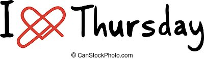 Thursday love icon - Creative design of Thursday love icon