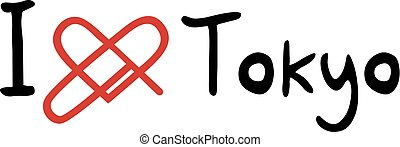 Tokyo love symbol - Creative design of Tokyo love symbol