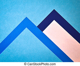 two papers moutains - abstract background blue two papers...
