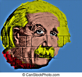 Albert Einstein like Endy Warhol-style - Albert Einstein...