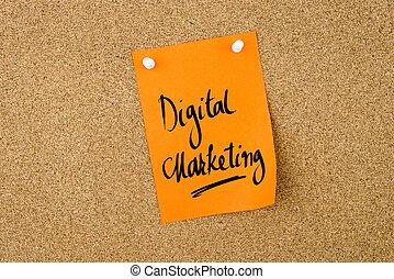 Digital Marketing written on paper note