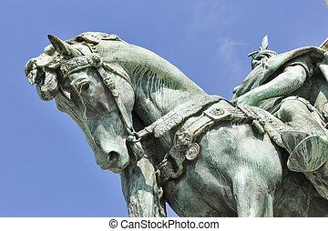 milenio, monumento conmemorativo, en, Budapest, Hungary.,