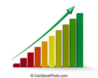 Business graph up #2 - Color business graph with green arrow...