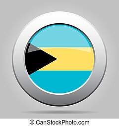 metal button with flag of Bahamas - metal button with the...