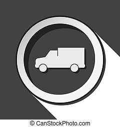 icon - lorry car with shadow