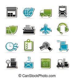 cargo and transportation icons