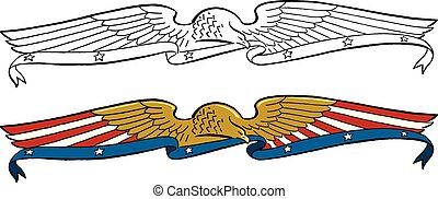 American Eagle Banner Header - A decorative American eagle...