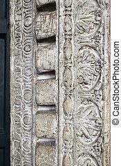 Door emboss - Emboss of an ancient door in the church of...