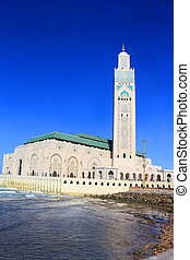 Hassan II Mosque, Casablanca - Hassan II Mosque by the ocean...