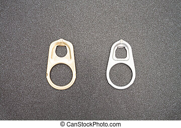 Ring pull cans opener background - Ring pull cans opener on...