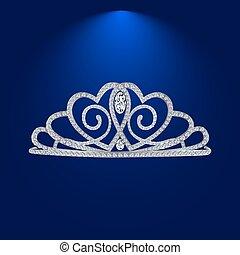 tiara with diamonds