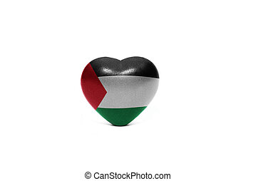 heart with national flag of palestine - heart with national...