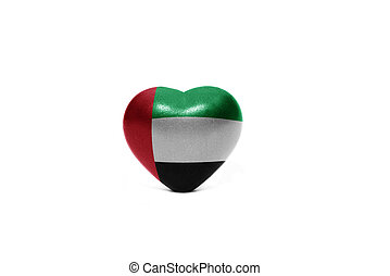 heart with national flag of united arab emirates