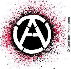 Anarchy symbol icon vector